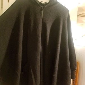 H&M wool blend cape (with hood)
